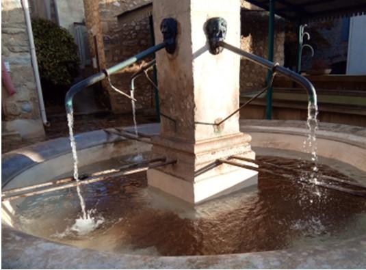 Retour de l'eau à la fontaine