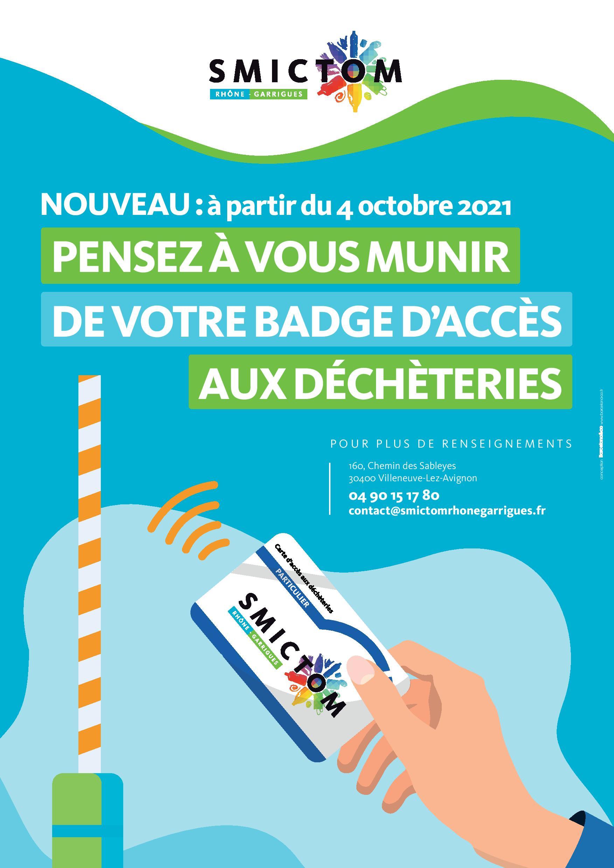Déchèterie: mise en place de badge d'accès